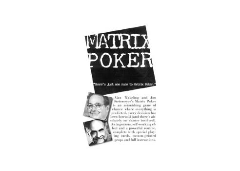 MATRIX POKER - JIM STEINMEYER Y ALAN...